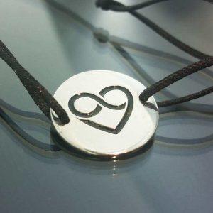Bratara snur sintetic accesoriu argint 925 inima celtica