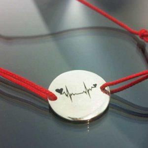 Bratara snur sintetic accesoriu argint 925 puls