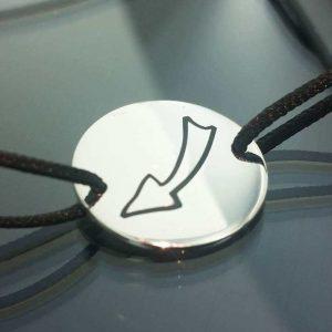 Bratara snur sintetic accesoriu argint 925 sageata