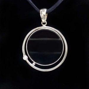 Pandant argint 925 cu piatra centrala onix