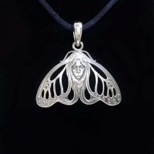 Pandant din argint 925 cap de femeie molie / P379