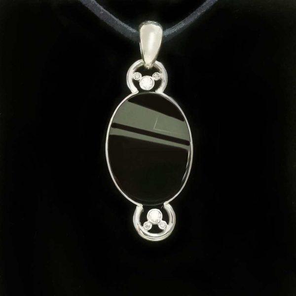 Pandant argint 925 cu piatra onix
