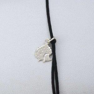 Bratara snur sintetic accesoriu argint 925 arici
