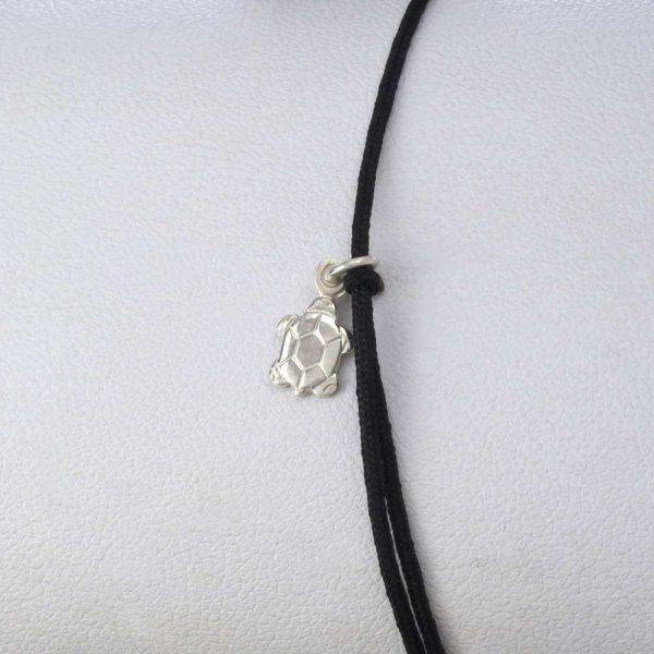 Bratara snur sintetic accesoriu argint 925 broasca testoasa