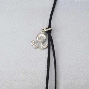 Bratara snur sintetic accesoriu argint 925 caracatita