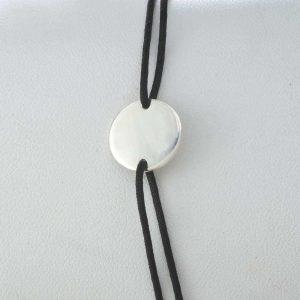 Bratara snur sintetic accesoriu banut argint 925-13mm
