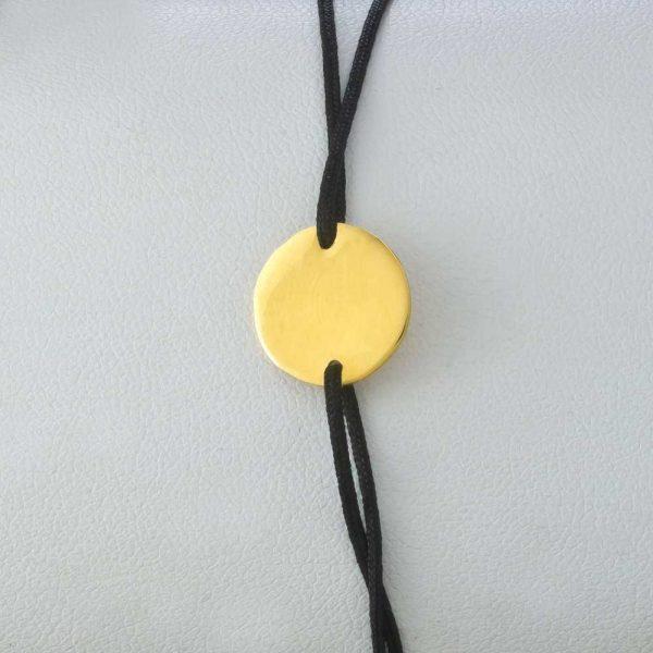 Bratara snur sintetic accesoriu banut argint /aurit 925 -13mm