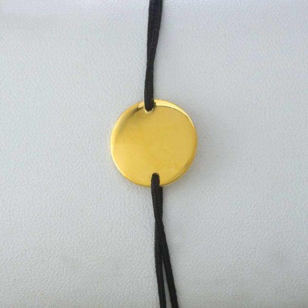 Bratara snur sintetic accesoriu banut argint 925/aurit