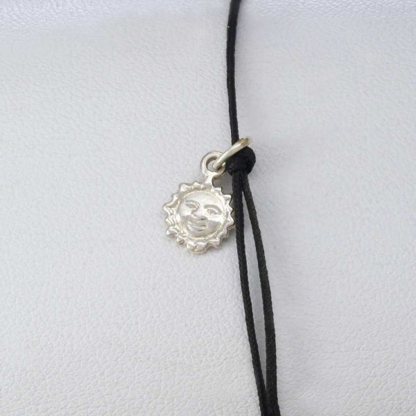 Bratara snur sintetic accesoriu argint 925 soare