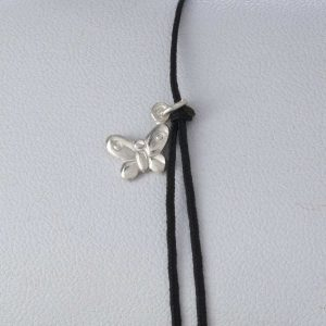 Bratara snur sintetic accesoriu argint 925 fluturas