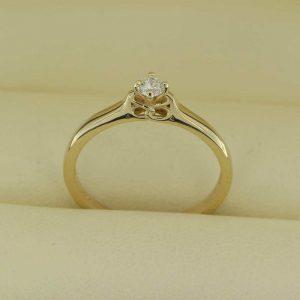 Inel din aur galben cu diamant