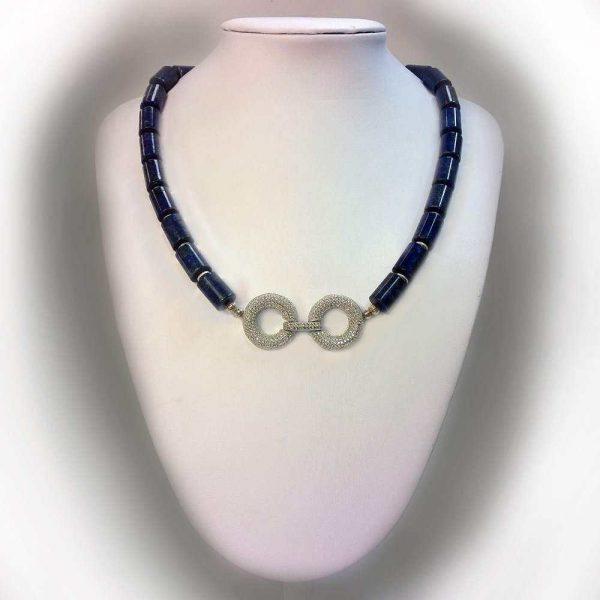 Colier cu pietre lapis lazuli