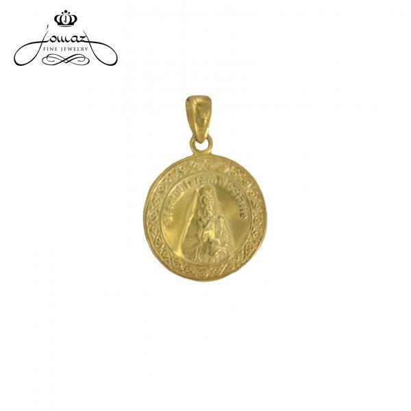 Pandant din argint 925 sfantul Nectarie/aurit