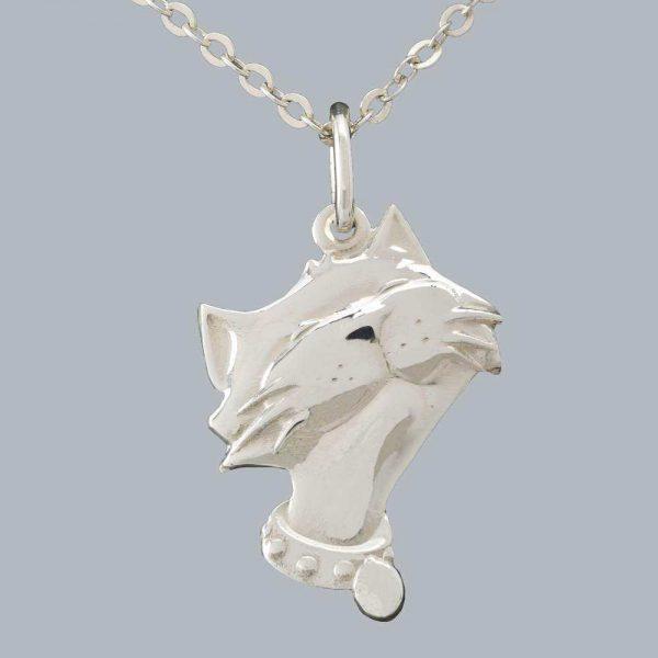 """Pandantiv pisicuta """"Marie"""" din argint 925 / P102"""