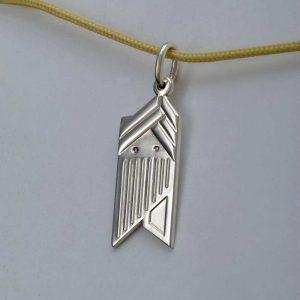 Pandant argint 925, Om de zapada stilizat-tip 1