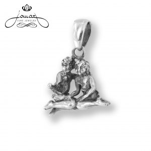 Pandantiv din argint 925 zodia gemeni / P308