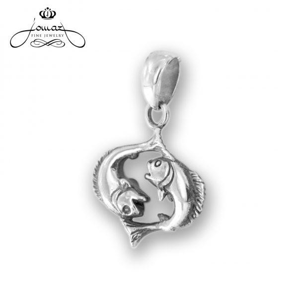 Pandantiv din argint 925 zodia peste / P329