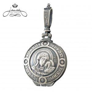 Pandantiv religios cutiuta Sf. Ana din argint 925 / P39.3