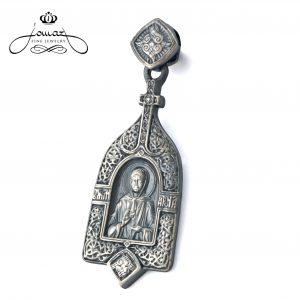 Pandantiv tema religioasa- Maica Domnului,patinat din argint 925 / P45.3