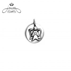 Pandantiv din argint 925/banut personalizat cu ingeras/ P605