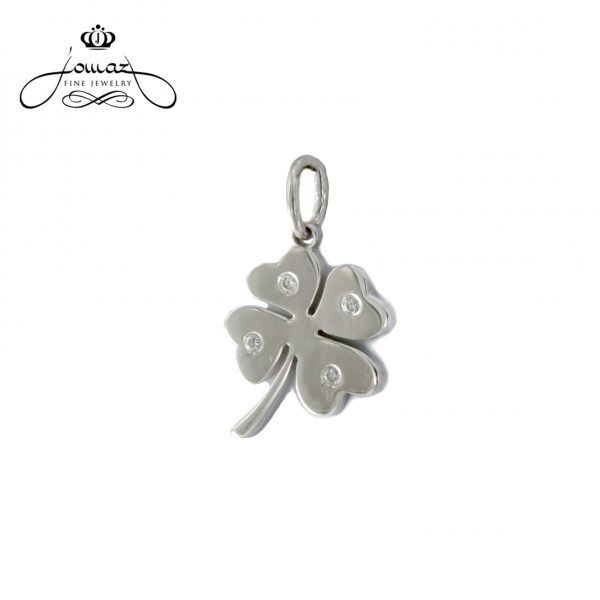 Pandantiv din argint 925 trifoi cu pietre zirconiu / P62.7