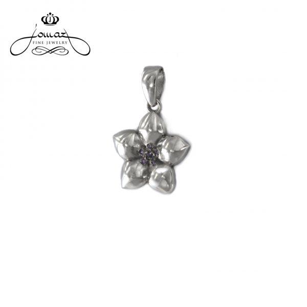 Pandantiv din argint 925 trifoi cu pietre zirconiu / P757
