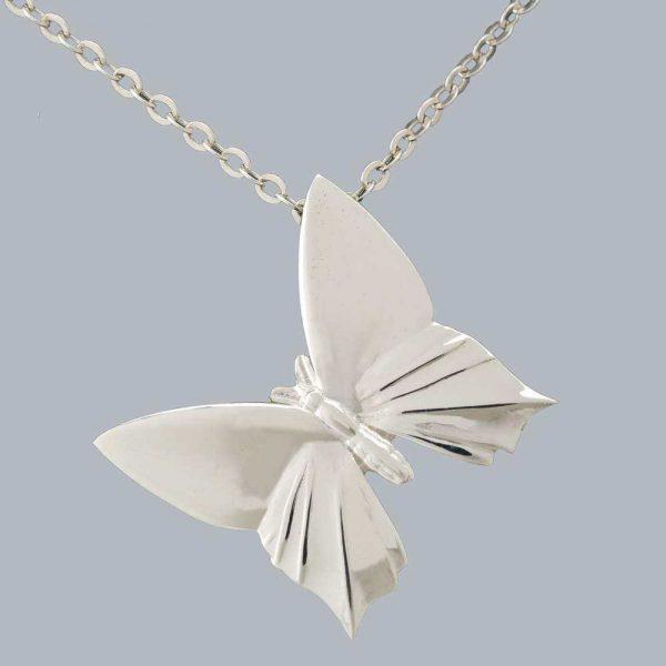 Pandantiv fluture plin din argint 925 / P93