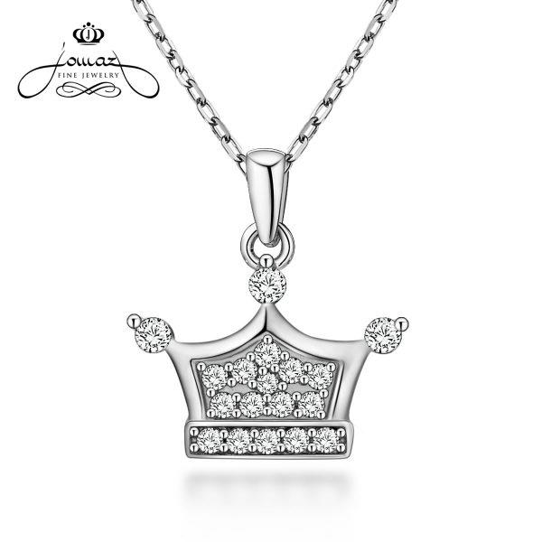 Pandantiv din argint 925 coronita cu pietre zirconiu /P68.7