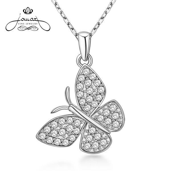 Pandantiv din argint 925 fluture cu pietre zirconiu / P97.7